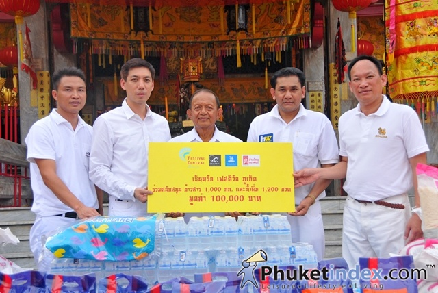 Central Festival Phuket support Phuket Vegetarian Festival 2012