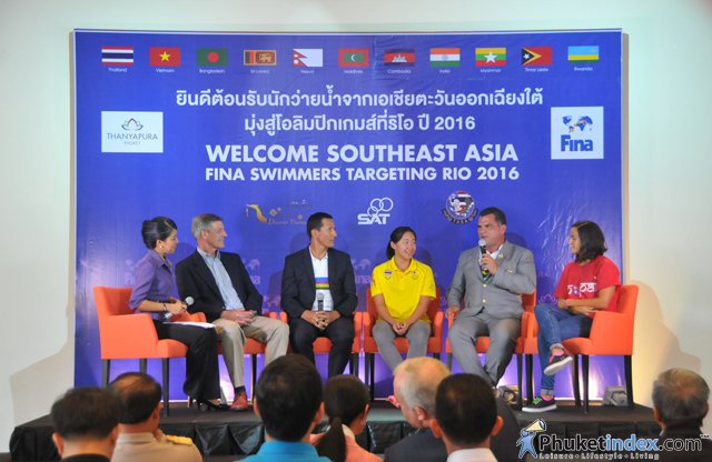 Welcoming of the FINA Scholars press conference at Thanyapura Phuket