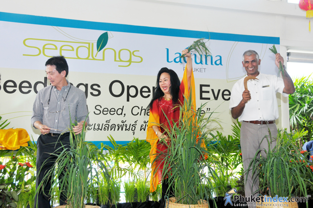 "Seedlings opening event ""Plant a seed, change a life"" at Laguna Phuket"