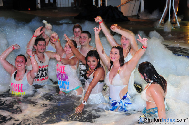 White & Wet Foam Party at Centra Ashlee Hotel Patong