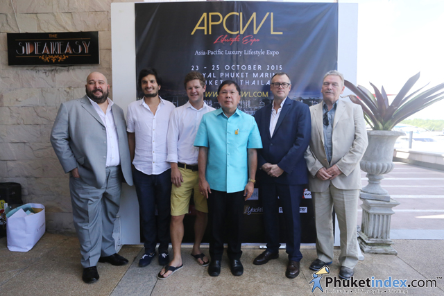 """The press conference for the APCWL Lifestyle Expo 2015"" at Royal Phuket Marina"