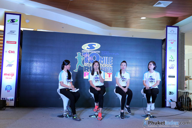 "Press conference ""2nd 10 Mile International Run 2016 Phuket Presented by Thanyapura"" at Central Festival Phuket"