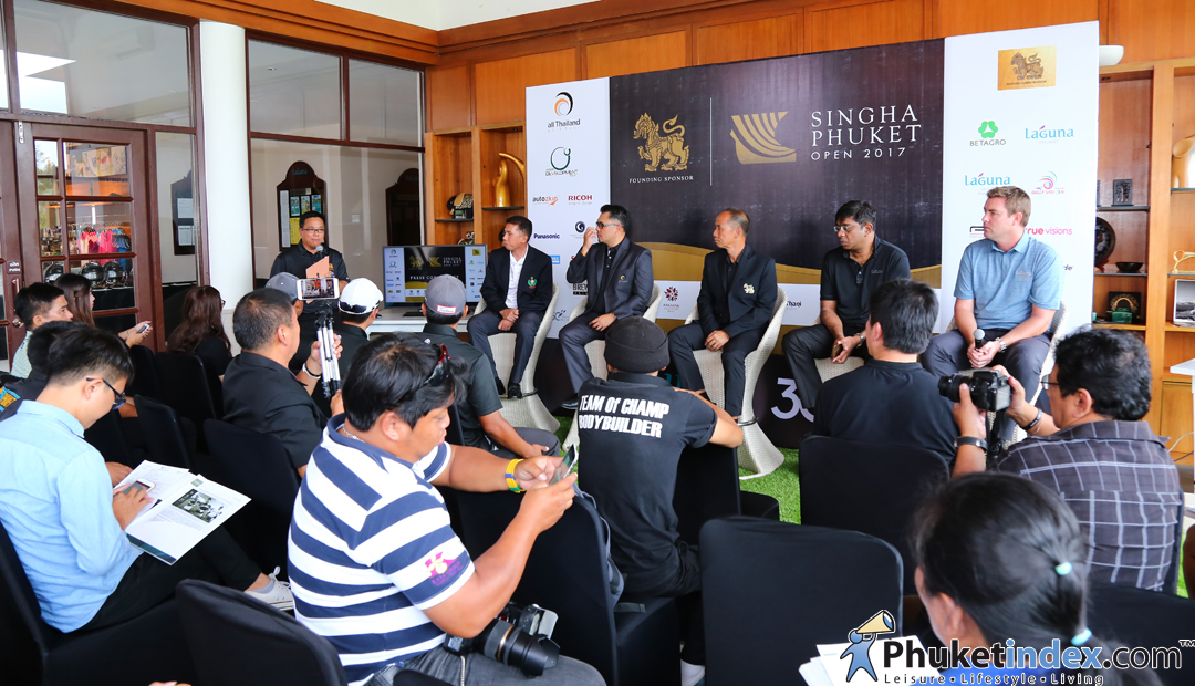 "Press conference ""Singha Phuket Open 2017"" @Laguna Golf Phuket"