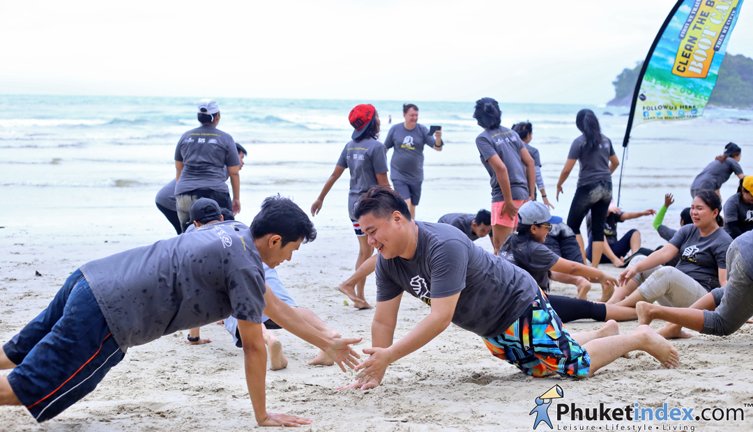 Clean the Beach Boot Camp at Kata Beach Phuket