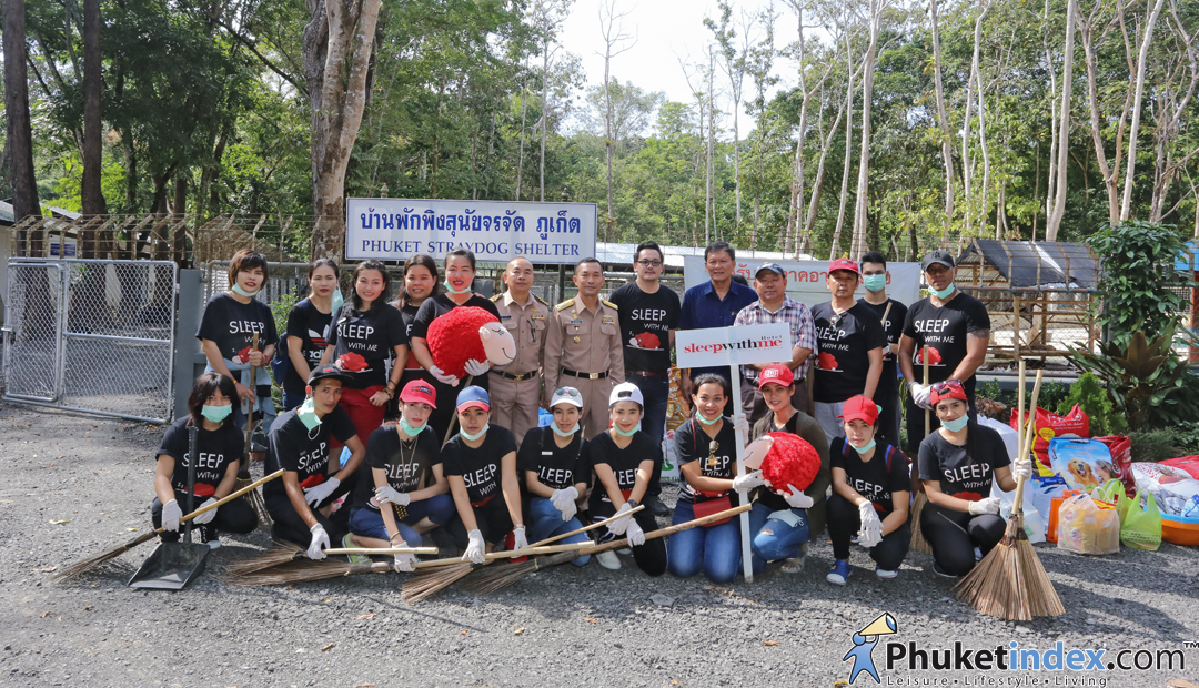 Sleep with Me Hotels held the CSR event at Phuket Homeless Dog Shelter