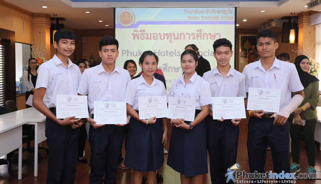 Ceremony of Scholarship Certificate @Phuket Vocational College