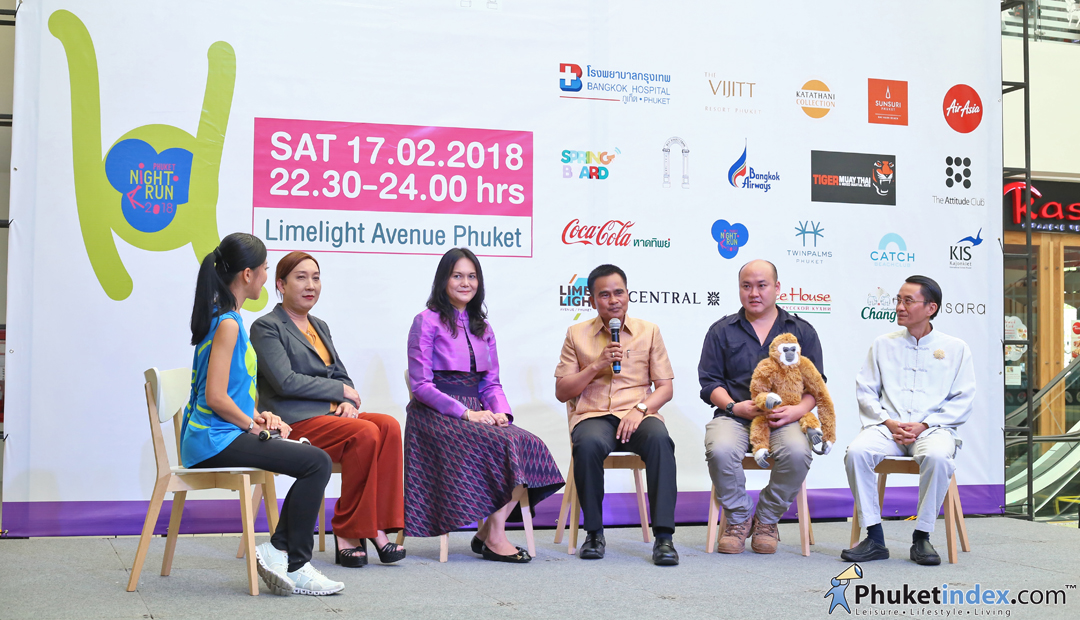 Phuket Night Run 2018, Run for the Gibbons - Press Conference