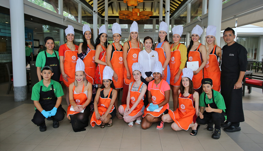 Cooking Class - Miss Universe New Zealand Finalists 2019 in Phuket
